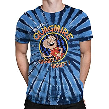 Liquid Blue Unisex-Adult s Family Guy Who Else But Quagmire Ss T-Shirt Multi Colored tie dye Medium
