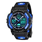 SOKY Outdoor Toys for 6-15 Year Old Teen Boys, Kids Waterproof Digital Watches for 6-15 Year Old Boys Popular Xmas Gifts for 6-15 Year Old Girl Birthday Presents Gifts for Teenage Age 6-15 Blue SW02