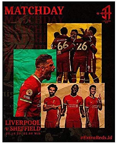w15Y8 Liverpool FC Vs Sheffield United (2020) Posters E Impresiones Película Tendencia De Moda...