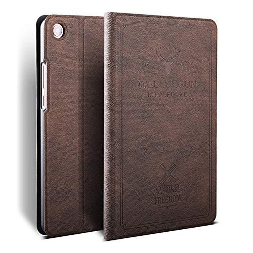 Case for Xiaomi Mi Pad 4 Case MiPad 4 8.0 Slim Folding Stand PU Leather Smart Cover for Xiaomi Mi Pad 4 Plus 10.1 Tablet Funda-Coffee