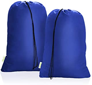 OTraki Heavy Duty Large Laundry Bag 28 x 45inch [2 Pack] XL Drawstring Travel Organizer Bags Camp Home Dorm Tear Resistant...