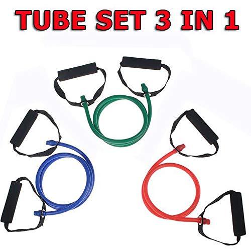 Focus fitness set van 3 stuks banden, geel/rood/groen, één maat