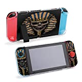 SUPNON Pharaoh Old Skull Face Vector Isolated Compatible with Nintendo Switch Console & Joy-Con Protective Case, Durable Flexible Shock-Absorption Anti-Scratch Drop Protection Cover Shell Design22043