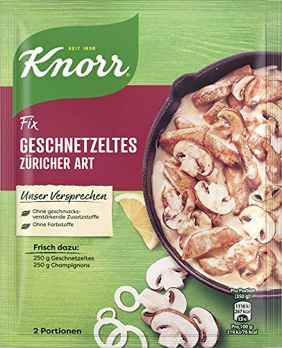 Knorr Fix Würzbasis Geschnetzeltes Züricher Art, 2 Portionen, 2 x 36g