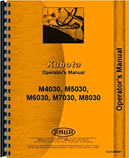 Kubota M6030 Tractor Operators Manual