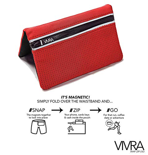 VIVRA Bum Bag Belt-Free Waist Bag | Fashionable Fanny Pack | Magnetic Running Bag | RFID Wallet | Attachable Waist Pouch for Fitness, Travel | Two Sizes iPhone,Samsung and Google Phones(Black, Large)