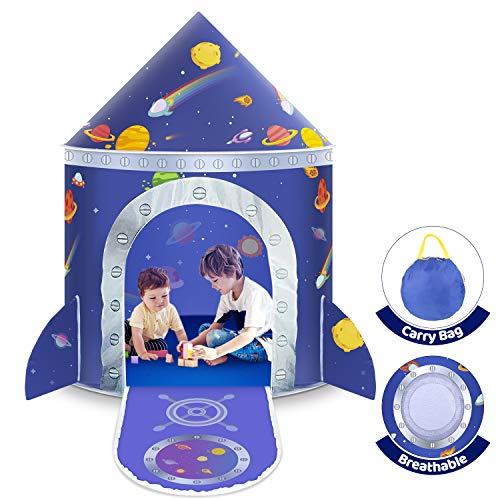 Kids Play Tent , Space Tent Children's Pop Up Tent Prince Castle House Palace Tent Game Tent with Carry Bag Portable Toy Christmas Birthday Gifts for Boys Girls Toddlers Indoor and Outdoor Plays