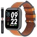 Fullmosa Smartwatch für Herren Damen, Fitness Tracker mit Herzfrequenzmesser, 1,3 Zoll Touchscreen Sportuhr, IP68 Wasserdicht Fitnessuhr mit Schrittzähler, Smart Watch kompatibler iOS Android(SW-011)