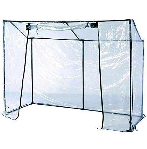 Mojawo Gewächshaus Frühbeet PVC Folie Metallrohre/Rahmen Fronttür aufroll- und verschließbar 200x77xH.150CM