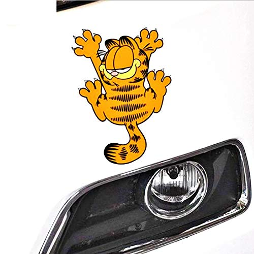 Auto Aufkleber Zubehör Cartoon Lustige Garfield Grab The Car Decal Dekoration für Smart Honda Kühlschrank