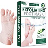 [2021 Newest Technology]Foot Peel Mask 2 Pack For Cracked Heels, Dead Skin & Calluses - Make Your Feet Baby Soft & Get a Smooth Skin, Removes & Repairs Rough Heels