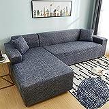 WXQY Cubierta de sofá con Estampado de Rayas para Sala de Estar,...
