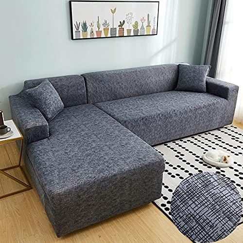 WXQY Cubierta de sofá con Estampado de Rayas para Sala de Estar, Cubierta de sofá de Spandex elástica sólida, Toalla de sofá elástica A8, 4 plazas