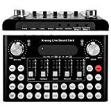 Tangxi Cambiador de Voz F007, Tarjeta de Sonido en Vivo con