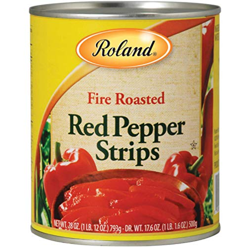 Roland Fire Roasted Peppers, Red Strips, 28 Ounce