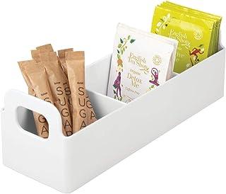mDesign boite de rangement en plastique – panier de rangement pour cuisine et garde-manger – organisateur cuisine avec 3 c...