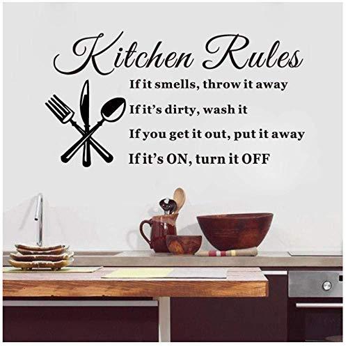 Cocina comedor arte etiqueta de la pared cocina Kitshen Rutes tatuajes de pared decoración del hogar papel tapiz etiqueta de vinilo desmontable 60x33cm