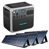 PowerOak BLUETTI AC200P Tragbare Powerstation und 3 Stück 200W Solarpanel, Solargenerator Stromversorgung Stromerzeuger mit 2000Wh LiFePO4-Batterie 2000W Wechselrichter AC/DC/USB-Steckdosen