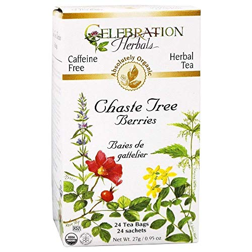 Celebration Herbals, Herbal Tea, Chaste Tree Berries, Caffeine Free, 24 Tea Bags, 0.95 oz (27 g)