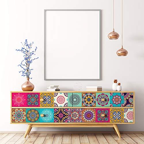 Stickers adhésifs Meuble | Sticker Autocollant Carrelage - Décoration pour Tables Armoires Commodes Étagères | 40 x 60 cm
