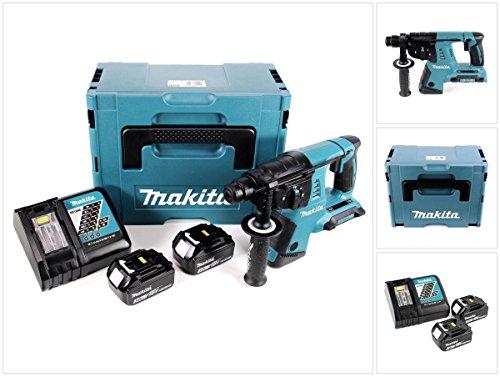 Makita DHR 263 RFJ 2x18V / 36 V SDS-Plus Akku Bohrhammer mit 2 x 3,0 Ah Akku + DC18RC Ladegerät im Makpac 4