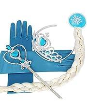 Cosplay Crown Tiara Hair Accessory Crown Wig +Magic Wand For Elsa