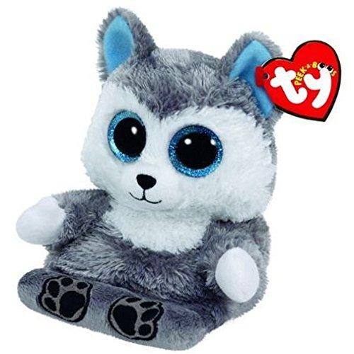 Ty 00011 - Scout, Husky mit Glitzeraugen, Peek-A-Boos, Smartphonehalter, 15 cm