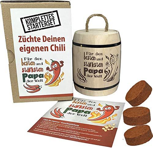 KRONLY - Set per la coltivazione del peperoncino, idea regalo per il papà più forte del mondo, regalo per la festa del papà