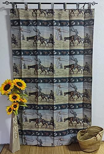 Cortinas de Pueblo para Patios de Interior y Exterior de casa alpujarras de travillas Modelo Quijote y Sancho ( imágenes Reales).