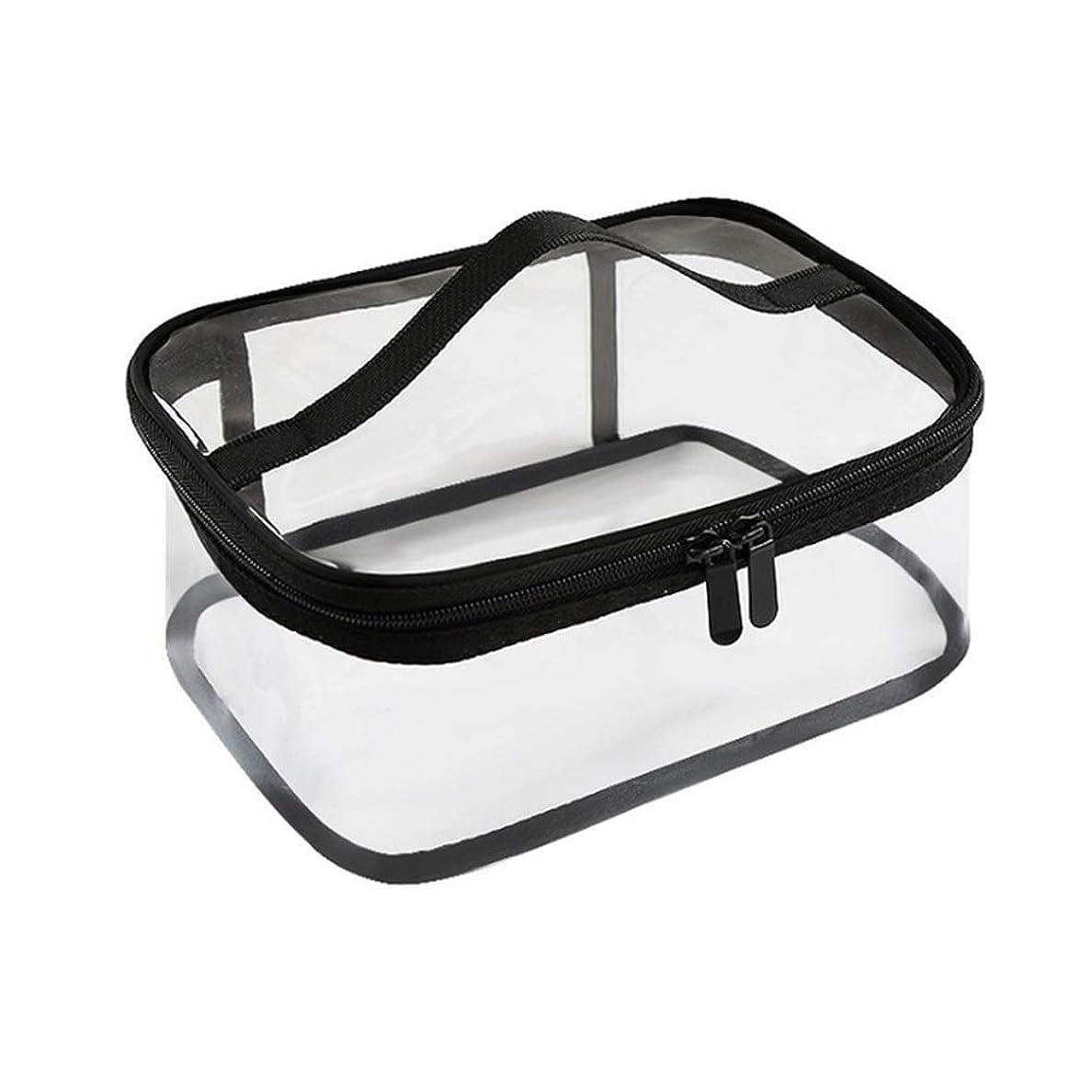 ギャラリードリルジャンプジッパー防水透明旅行収納ポーチ付きポータブルクリアメイクバッグ