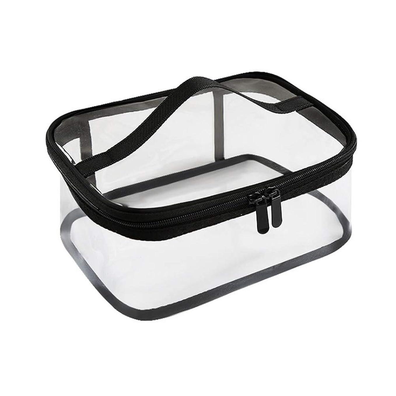 簡潔な割り当てるセールスマンジッパー防水透明旅行収納ポーチ付きポータブルクリアメイクバッグ