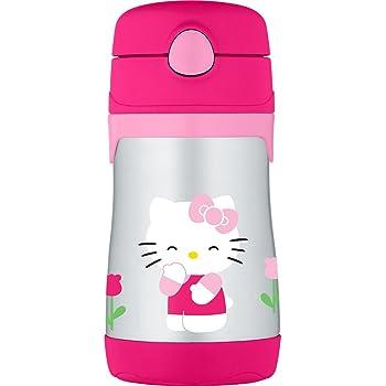 Hello Kitty Pop-up Strw Bottle:camo sanrio
