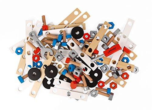 Janod J06480 Brico\'Kids Werkbank Zubehörsortiment, 50 Teile