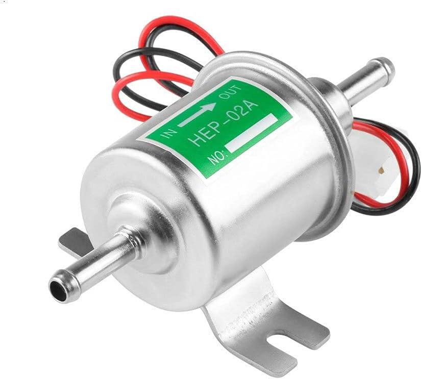 Bomba Sumergible PC 1 Bomba de Combustible eléctrica de Gasolina de Gasolina Diesel Universal de Baja presión Bomba de achique para Barco (Color : Silver, Voltage : 12V)