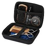 Bartpflege-Set, 7 Teile/satz Tragbares Bartpflege-Set mit Schere, Bartcreme, Aufbewahrungstasche, Bartbürste, Bartkammund Bartöl für die Schnurrbartpflege