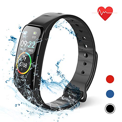 Lixada Smart Bracelet Fitness Tracker Watch con frequenza...