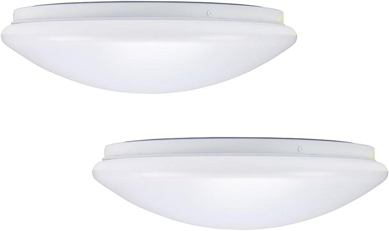 2er Set LED Deckenleuchten 20Watt, Deckenlampen rund  38,5cm, Acryl wei