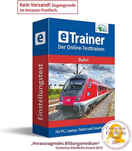 Bahn Einstellungstest 2020: eTrainer – Der Online-Testtrainer | Über 1.600 Aufgaben mit Lösungen: Allgemeinwissen, Deutsch, Englisch, Mathematik, logisches Denken, visuelles Denken und mehr