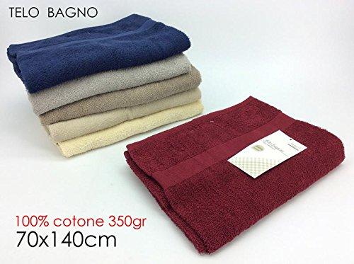 Toalla baño 70x 140cm Basic 6varios 100% algodón