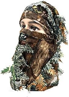 Camo Face Mask&Turkey Hunting Face Mask& JACKSUN Camo Balaclava Full Face Mask Hood Headcover Hunting Shooting Cycling Motorcycle Tactical Comfortable Soft Balaclava Headwear.