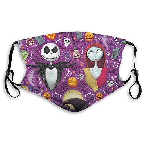 Nightmare Before Christmas Printed Face Shields Face Cover Comfy Breathable Balaclavas With Adjustable Ear Loops S