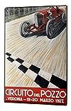 LEotiE SINCE 2004 Cartel Letrero de Chapa XXL Garage Diseño Circuito