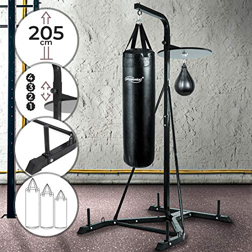 Jago Platform For Punch Bag Speed Bag – Black – Steel – 205 x 105 x 122 cm (H x W x D) – Height Rà © glable – arrãªt toilã A Device