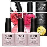 CND Shellac Romantique-UV Nail Polish, 22 ml, Pack de 3
