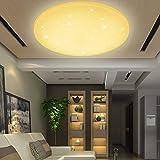 VINGO® 50 Watt Starlight Effekt LED Deckenleuchte Warmweiß Empfangsbereichen Deckenbeleuchtung