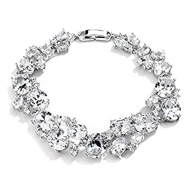 Mariell Luxurious Bridal & Wedding Bracelet with Multi Shaped Cubic Zirconia. Our #1 Selling CZ Bracelet