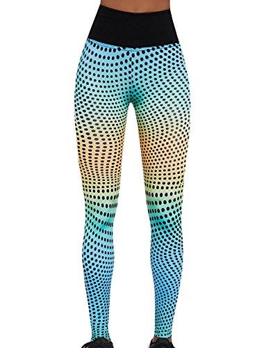 Bas Bleu Wave 90 Leggings Dame Hosen Sport Lang Hoher Bund Deckend EU, mehrfarbig,5/XL/42