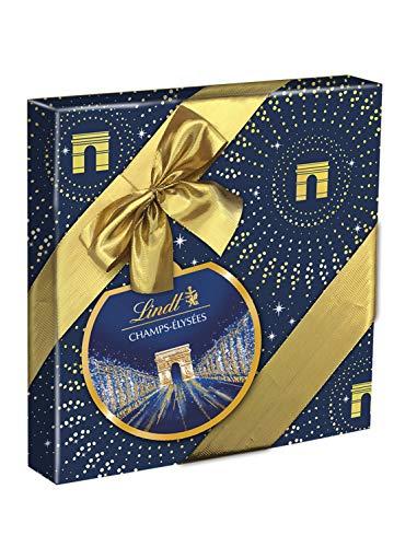 Lindt - Boîte cadeau CHAMPS-ELYSEES Assorti - Chocolats au Lait, Noir & Blanc - Fins & Irrésistibles - 237g