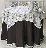 INUSUAL Falda o Ropa de Camilla Redonda Verano 90x75 y a Medida, Modelo Victoria (Chocolate)