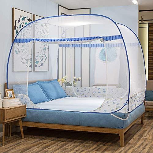 FGDSA Mosquitera Plegable, Yurt Cuadrado Pop Up Encryption Lace Anti-Mosquito con ventilación Inferior, Instalación Gratuita Tres Abiertos, 200x220cm